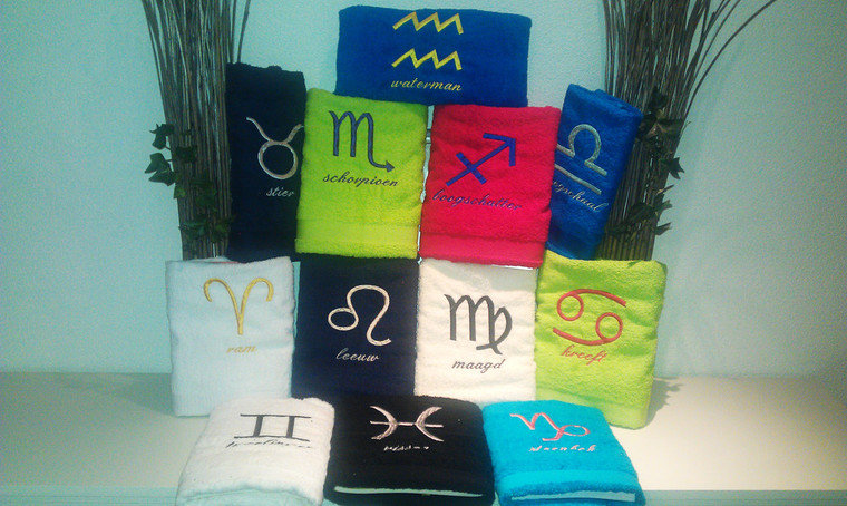 Handdoek met naam borduren